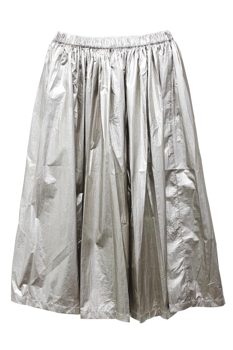 SARA LANZI メタリックギャザースカート【21AW】