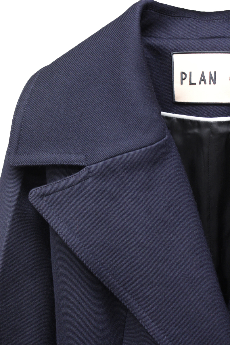 PLAN C ベルト付テーラードジャケット【21AW】