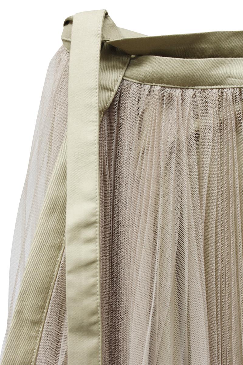 Chika Kisada チュールロングラップスカート【21AW】