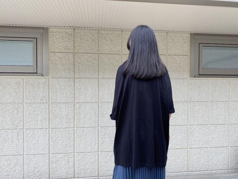 MM6 MAISON MARGIELA 半袖ワイドロングスウェットカットソー【21AW】
