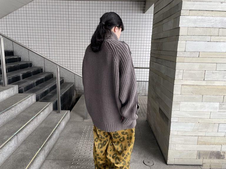 JOHN LAWRENCE SULLIVAN ボタンスリーブニット【21AW】