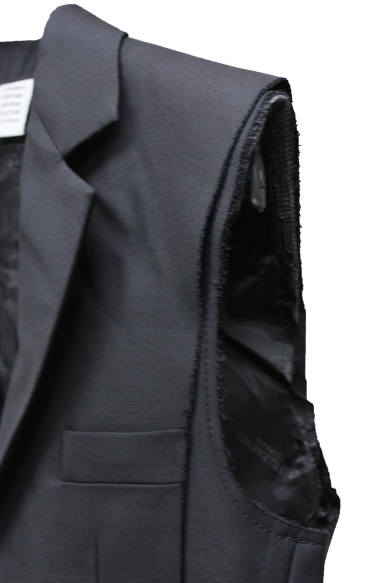 VETEMENTS CUT-UP SLEEVELESSジャケット【21AW】