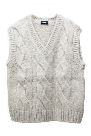 WE11DONE CABLE KNIT ベスト【21AW】