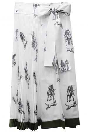 3.1 PHILLIP LIM HUNTING PRINTプリーツスカート【21AW】