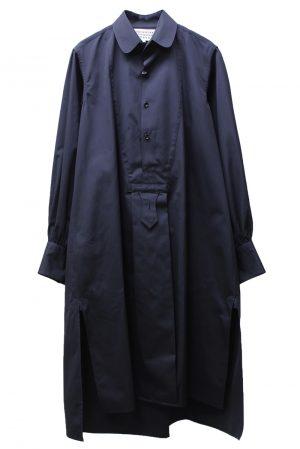 MAISON MARGIELA サイドスリットシャツワンピース【21AW】