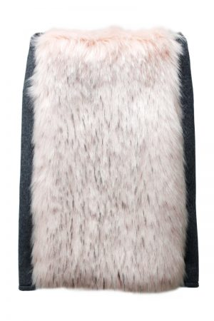 WE11DONE FAUX FUR LAYEREDスカート【21AW】