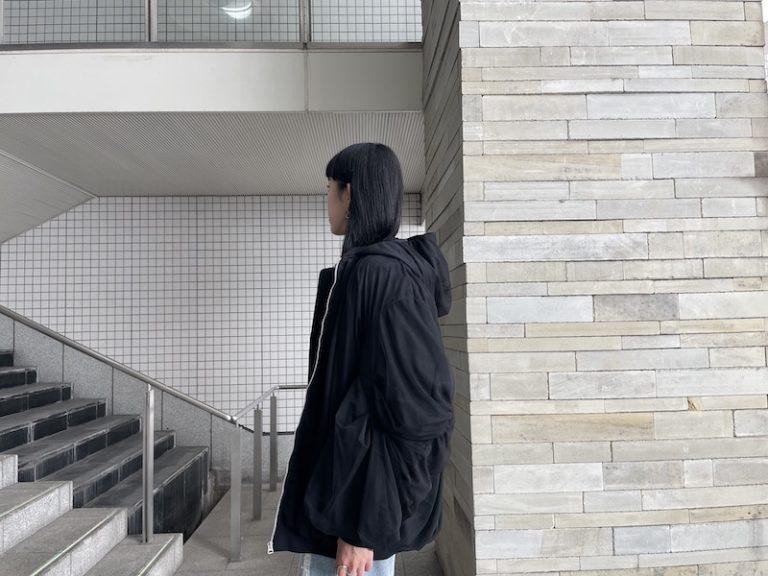 Chika Kisada チュール付ナイロンブルゾン【21AW】